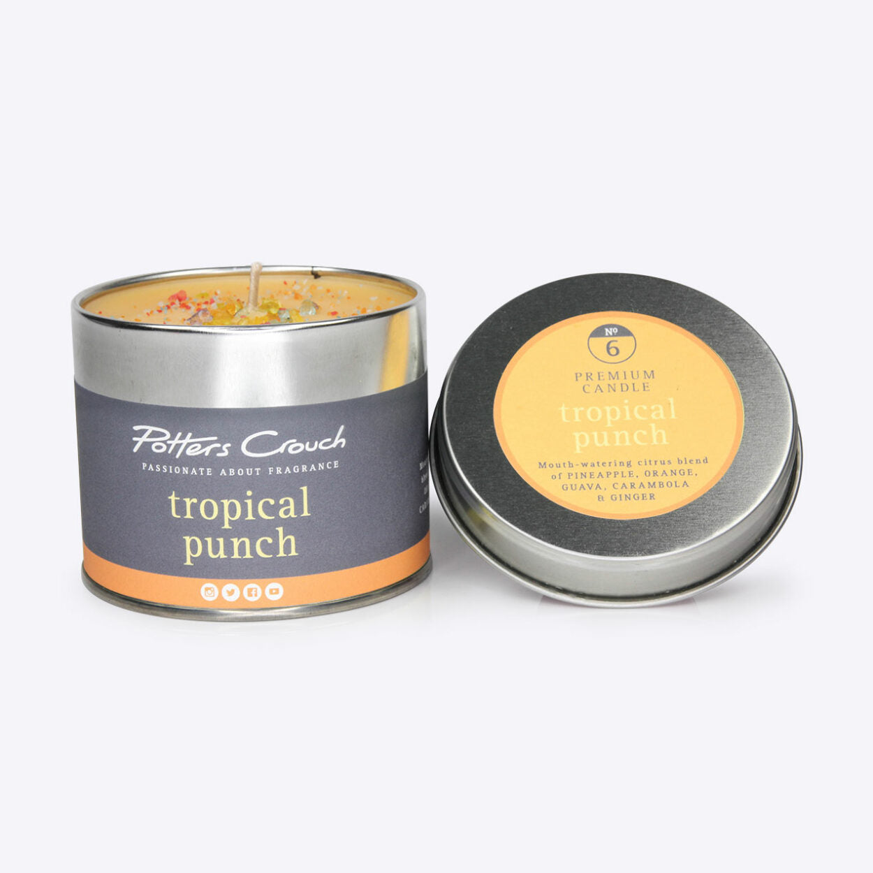 Tropical Punch Scented Candle in a Tin