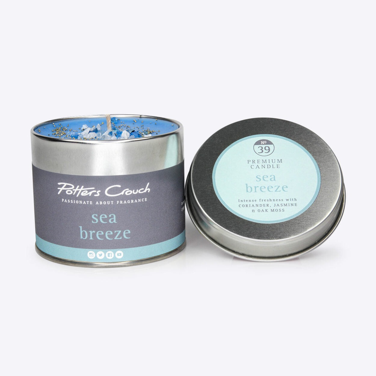 Sea Breeze Scented Candle in a Tin