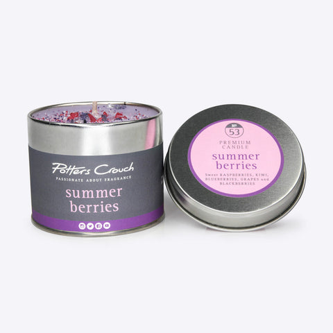 Summer Berries Scented Candle in a Tin