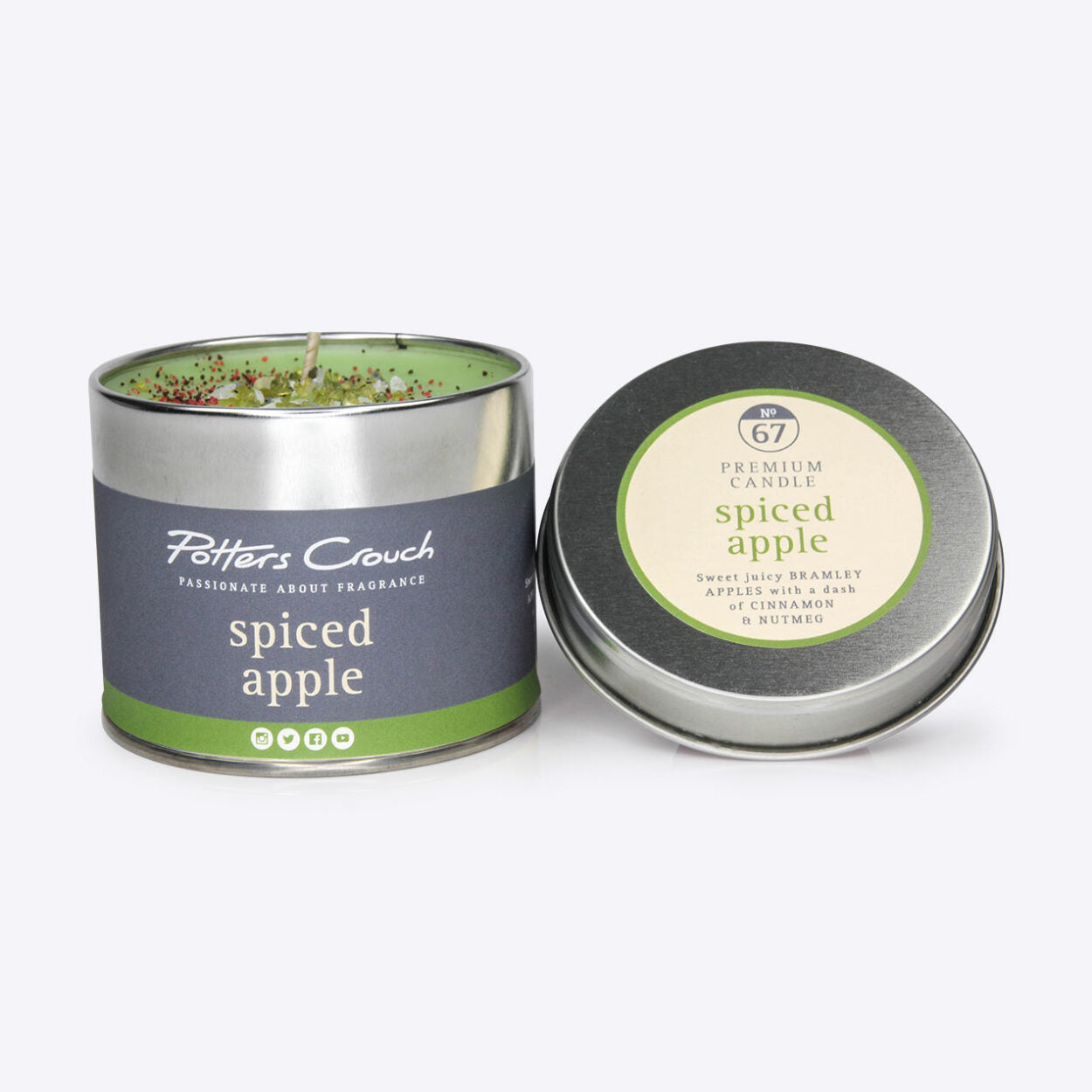 Spiced Apple Scented Candle in a Tin
