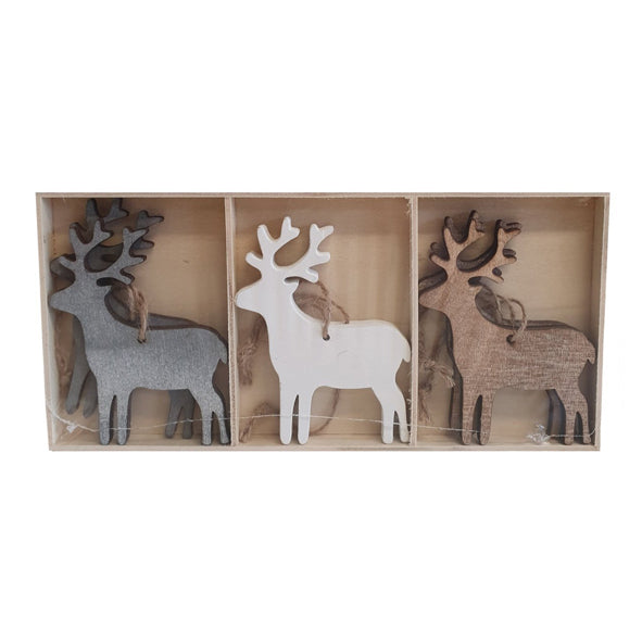 Set of Reindeer Decorations