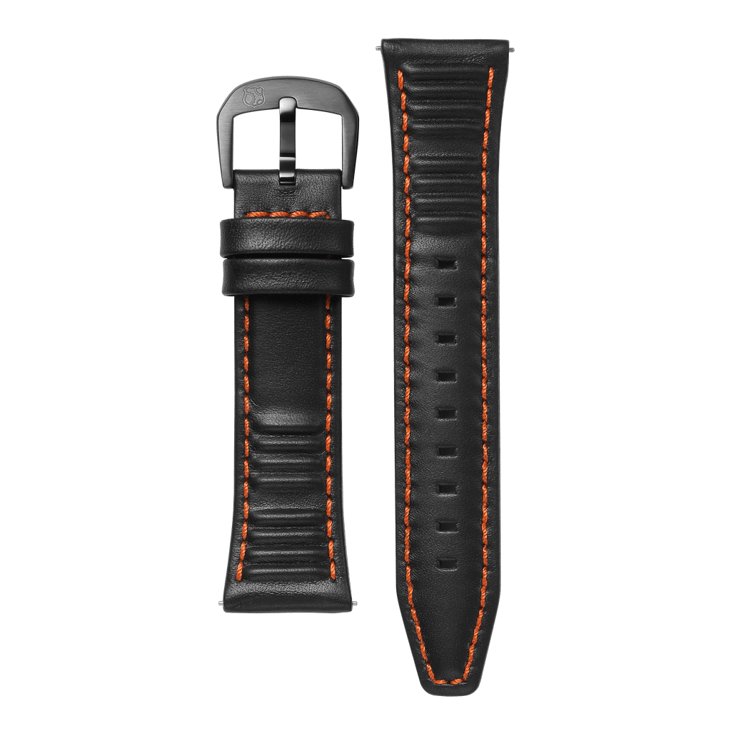Black/Orange Strap 24mm