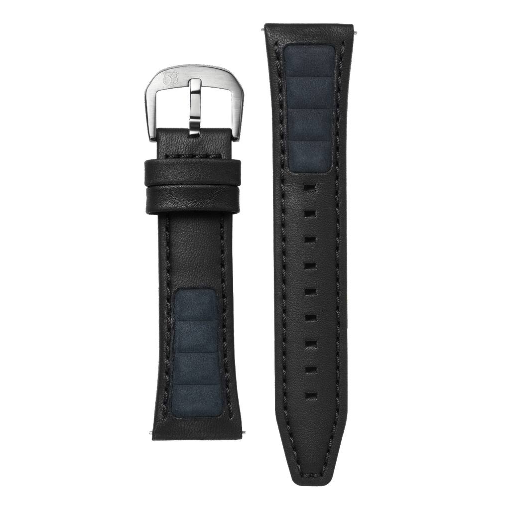 Black Alcantara Leather Strap 24mm