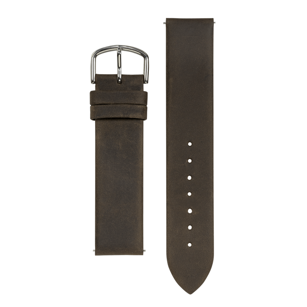 Dark Brown Leather 20mm