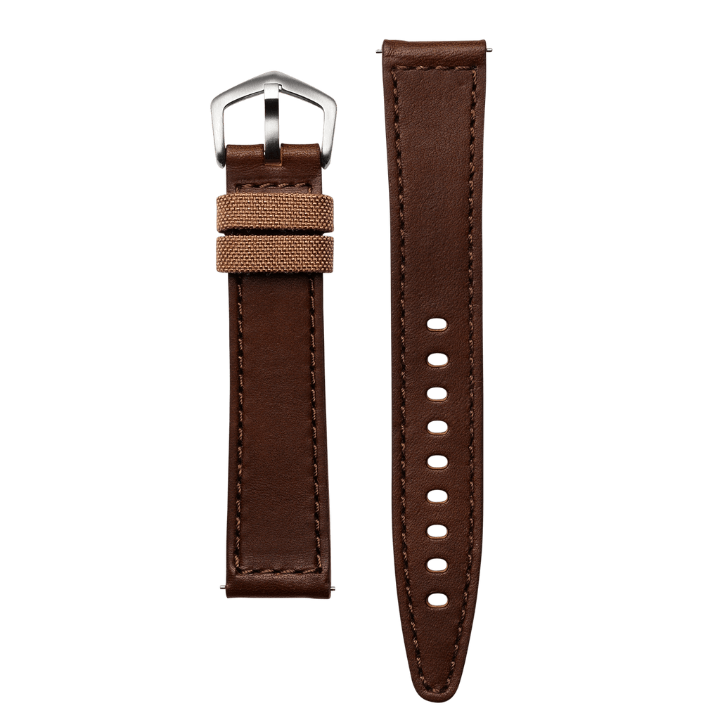 RJM Aged Dark Brown Leather 20mm