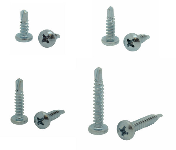 BCP58 BCP Fasteners 100 Qty #8 x 5//8 Zinc Pan Head Phillips TEK Self Drilling Sheet Metal Screws