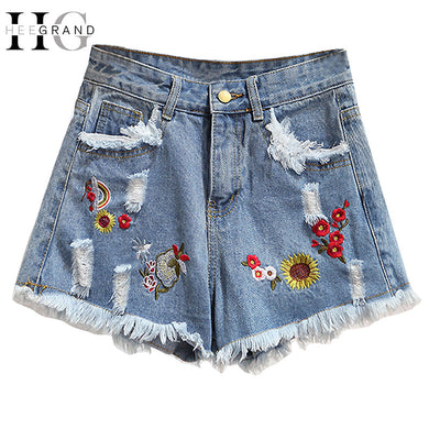 Vintage inspired denim shorts