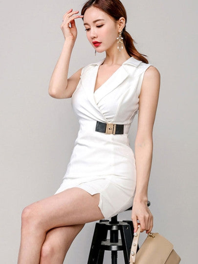 Lapel Bodycon Dress