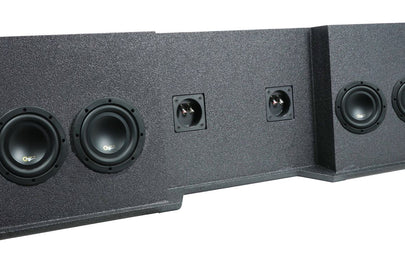 "Chevrolet / GM Extended Cab LOADED Quad 6.5"" Subwoofer Box (1999-2007)"