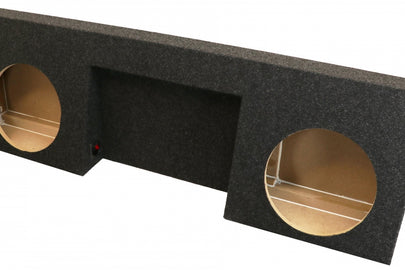 "Chevrolet Silverado / GMC Sierra Regular Cab Dual 10"" SprayLined Subwoofer Box (2007-2013)2"