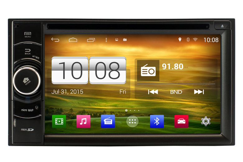 Universal Double Din Android OS GPS Navigation DVD Car Stereo