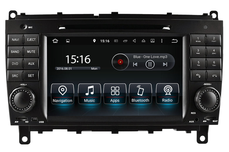 Mercedes-Benz CLK(C209/W209)/CLS(W219) Android GPS Navigation Car Stereo (2005-2010)