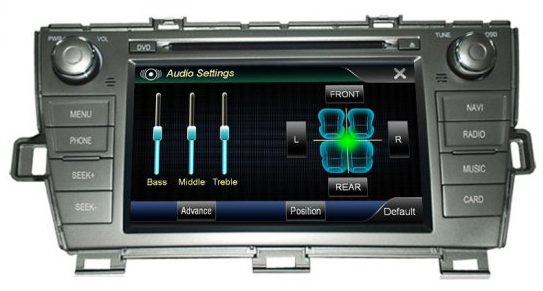 Toyota Prius Aftermarket Navigation Car Stereo