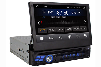 Universal Single Din GPS Navigation DVD Car Stereo