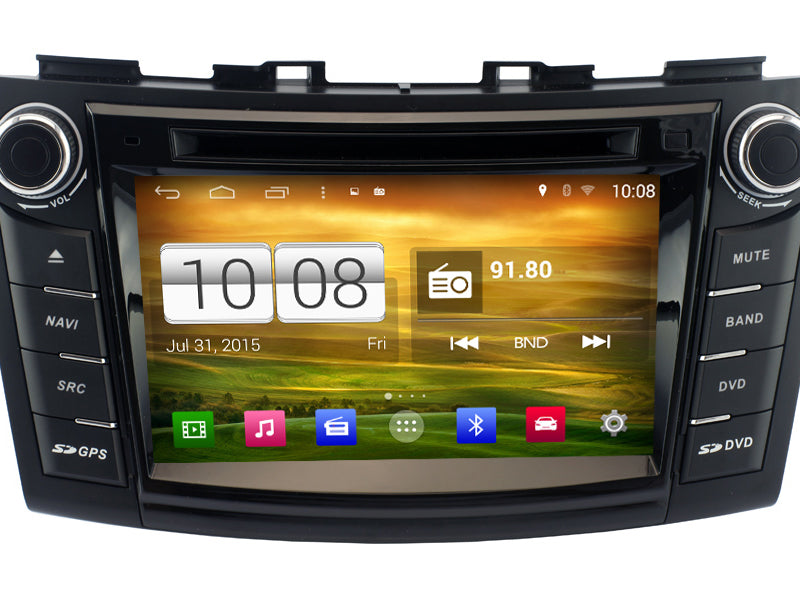 Suzuki Swift Android OS GPS Navigation Car Stereo (2011-2013)
