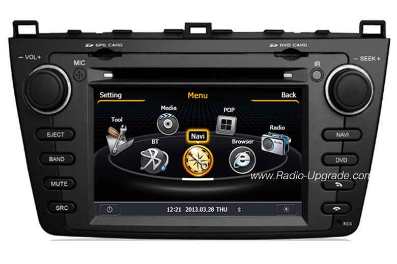 Mazda 6 Aftermarket GPS Navigation Car Stereo (2008-2012)