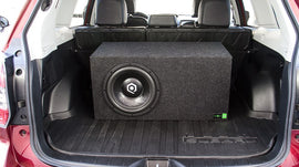 10-Inch Loaded Single Vented Subwoofer Enclosure Box with SoundQubed HDS210
