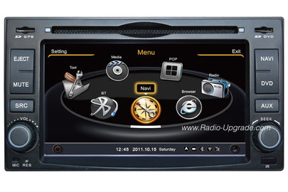 Kia Universal Double Din Aftermarket Navigation DVD Car Stereo