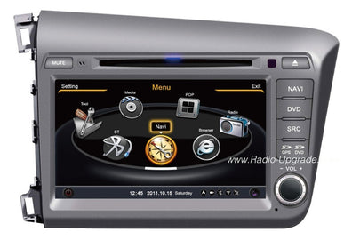Honda Civic Aftermarket GPS Navigation Car Stereo (2012-2014)