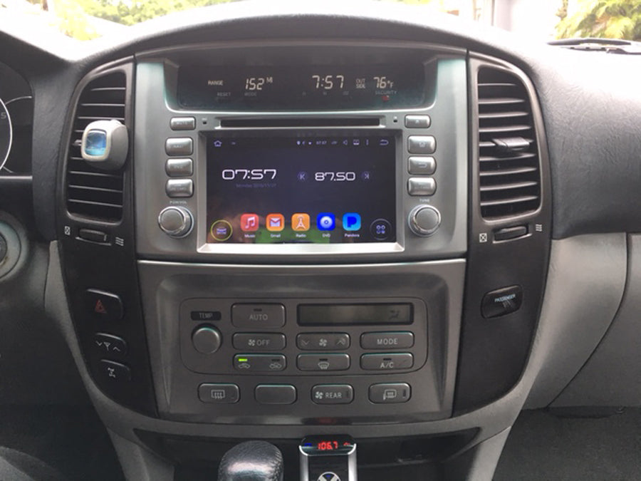 toyota land cruiser 100 aftermarket navigation head unit