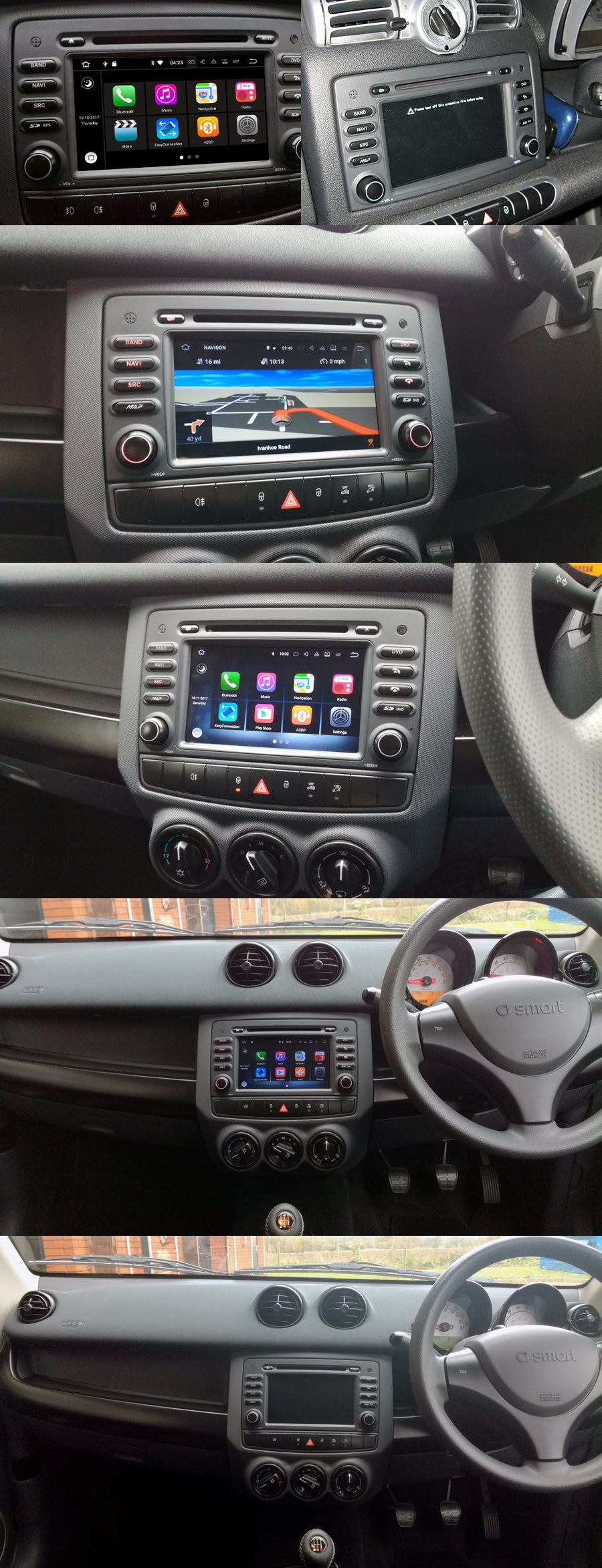 Smart Fortwo/Forfour aftermarket navigation head unit