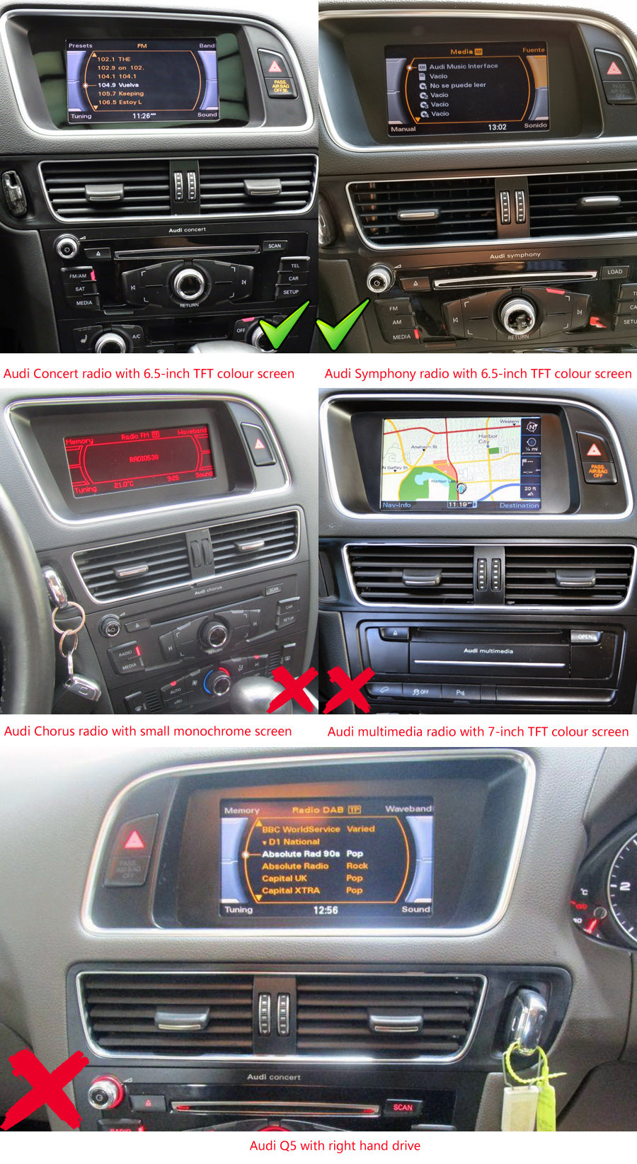 Audi Q5 GPS Navigation Car Stereo (2008-2016) Backup Camera Wiring Diagram Audi Q on