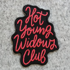 Hot Young Widows Club Embroidered Patch