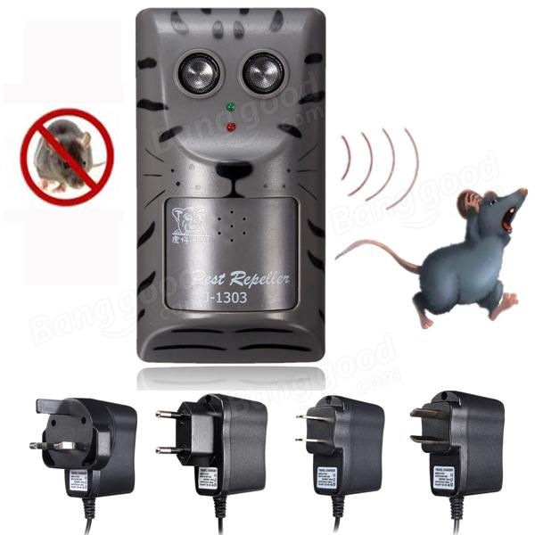 Electronic Ultrasonic Pest Rat Mouse Insect Rodent Control Repeller Anti Mole Killer Trap Bug Chaser