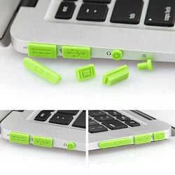 Colorful Soft Silicone Anti Dust Plug Ports Set For Macbook Air 11.6 13.3