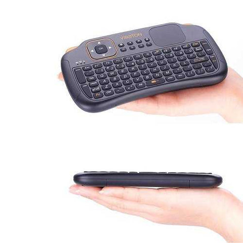 VIBOTON S1 Mini 2.4GHz Wireless Smart Keyboard Air Mouse for Mini PC Android TV HTPC
