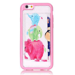 Little Elephant Pattern Back Holder Case For iPhone 6 Plus & 6s Plus