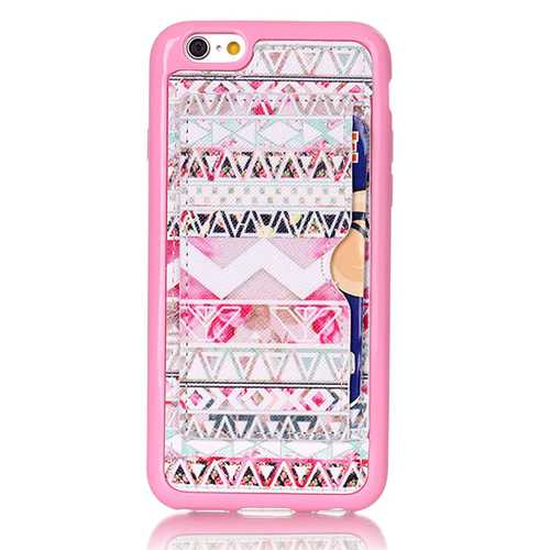 Pink Tribe Pattern Back Holder Case For iPhone 6 6s