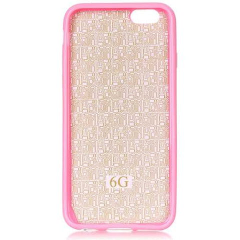 Fashion Pattern Pink Tribe Creative Back Holder Protector Case For iPhone 6/6s Plus
