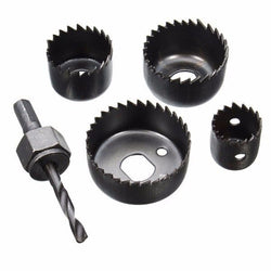 5pcs Hole Saw Set Hole Saw Cutter with Mandrel Wood Working Drill Bit 25mm/ 35mm/ 44mm/ 50mm