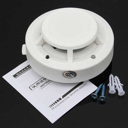 Wireless Smoke Detector Home Security Fire Alarm Photoelectric Sensor System
