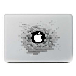 Removable 3D Effect Vinyl Decal Sticker Skin For Macbook 13 Inch