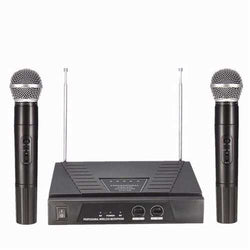 Dual Handheld VHF Wireless Radio Microphone With Receiver For KTV Music