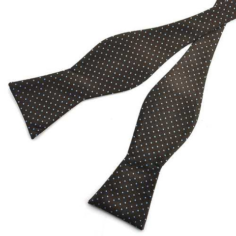 PenSee Men's Bow Ties Casual Polka Dot Paisley Jacquard Woven Silk Neckties Accessory