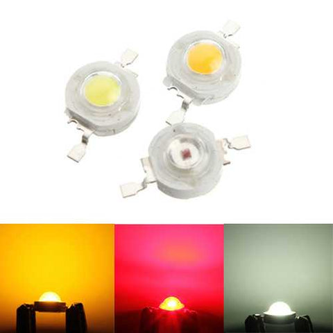 High Power 1W LED DIY Light Bead Lamp Chip Red White Yellow