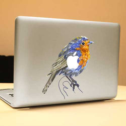 PAG Cute Little Sparrow Decorative Laptop Decal Removable Bubble Free Self-adhesive Skin Sticker