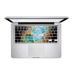 PAG The Night Blue Light PVC Keyboard Bubble Free Self-adhesive Decal For Macbook Pro 13 15 Inch