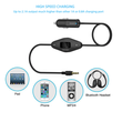 Car FM Transmitter Hands-free MP3 Player 3.5mm Headphone with Universal USB Car Charger