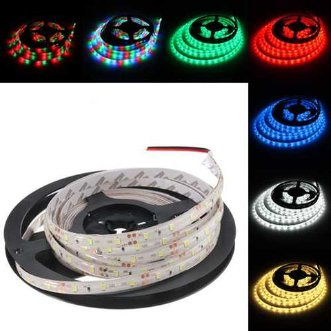 5M 24W DC12V 300 SMD 2835 Waterproof White/Warm White/Blue/Red/Green/RGB LED Flexible Strip light