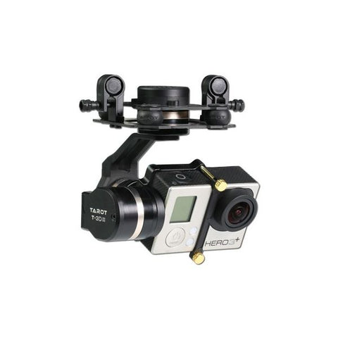 Tarot GOPRO 3D Metal CNC 3 Axis Brushless Gimbal PTZ for GOPRO 4 3+ 3 FPV RC Drone TL3T01