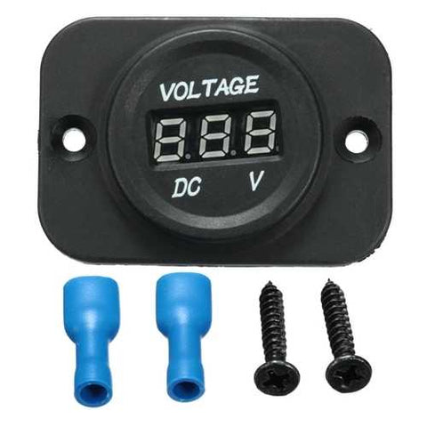 12V-24V Waterproof LED Volt Meterr Voltage Meter Gauge Car Boat Marine Motorcycle