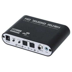 Digital to Analog AC3 Optical to Stereo Surround HD 5.1 Audio Decoder 2 SPDIF Ports HD Audio Rush