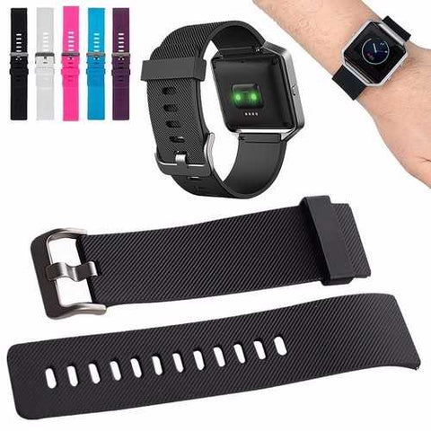 Replacement Silicone Rubber Sport Wrist Band Strap Watch Band For Fitbit Blaze