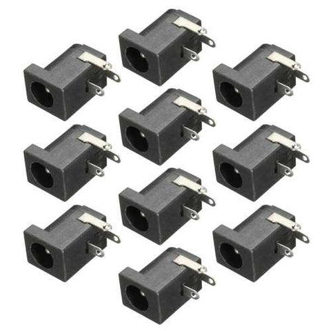 Excellway JS01 10pcs 5.5 x 2.1mm DC Power Supply Female Jack Socket