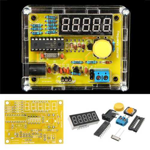 Geekcreit® DIY Frequency Tester 1Hz-50MHz Crystal Counter Meter With Housing Kit