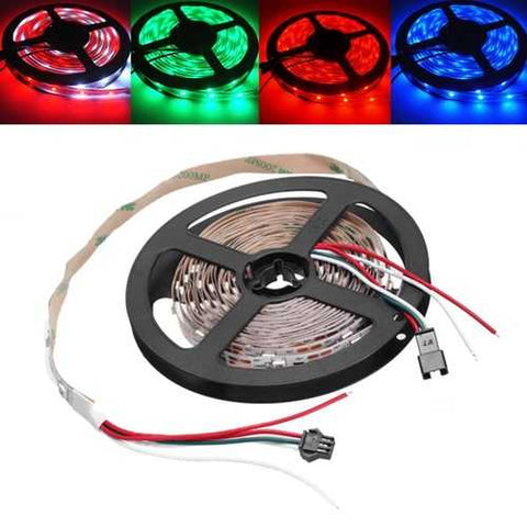 5M WS2812B IC SMD5050 Non-waterproof RGB LED Strip Light Individual Addressable Rope Lamp DC5V